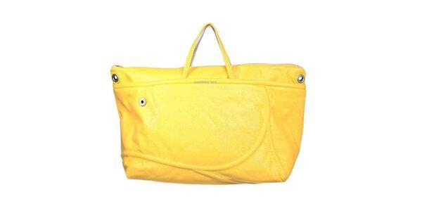 Dámská žluto-stříbrná kabelka Mandarina Duck