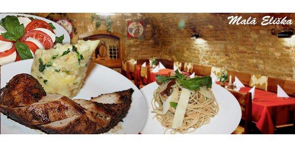 5chodové italské degustační menu pro dva jedlíky