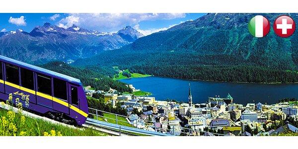 Výlet ledovcovým vlakem ze Švýcarska do Itálie