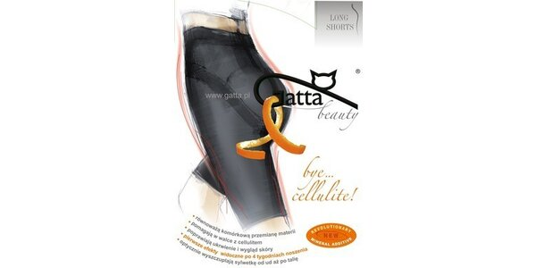 Gatta Bye Cellulite Longshorts černé