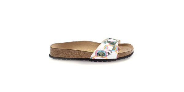 Hnědé pantofle s optimistickým vzorem Papillio
