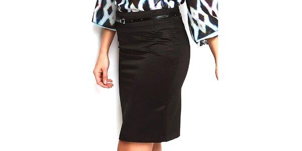 Dámská černá pouzdrová sukně do pasu Fusion