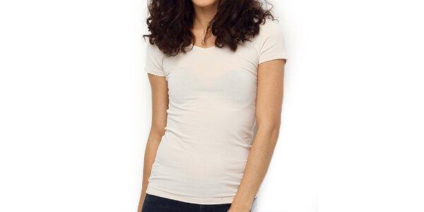 Dámské smetanově bílé tričko s krátkým rukávem Fusion