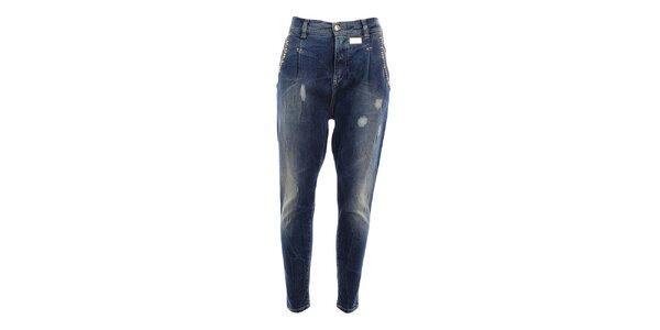 Dámské džíny s šisováním a oděrkami MET