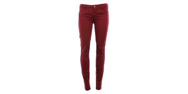 Dámské tmavě červené kalhoty MET