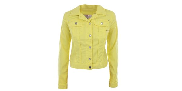 Dámská neonově žlutá bundička Met
