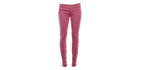 Dámské růžové chino kalhoty MET