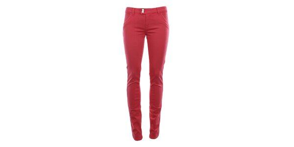Dámské růžovočervené chino kalhoty MET
