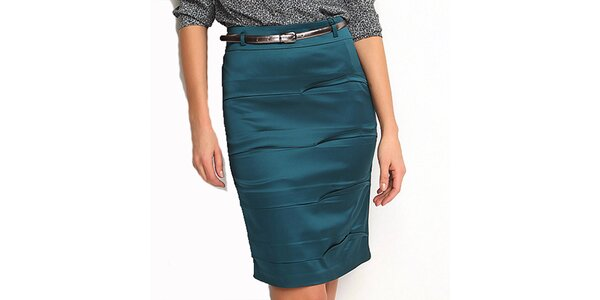 Dámská modrozelená pouzdrová sukně Fusion