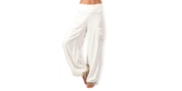 Dámské bílé kalhoty s kapsami Aller Simplement