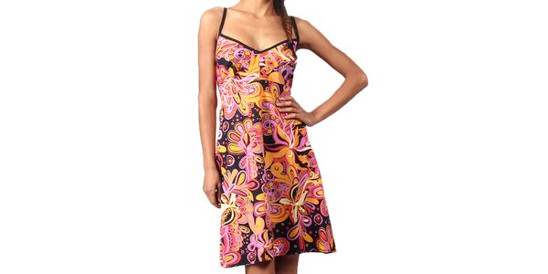 Dámské krátké barevné šaty na ramínka Aller Simplement