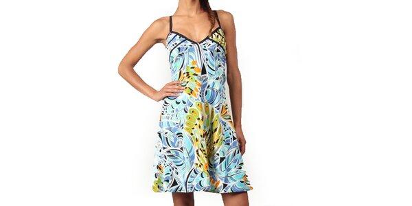 Dámské barevné šaty v tyrkysových odstínech Aller Simplement