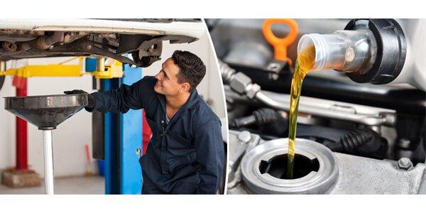 Výměna oleje s kontrolou podvozku zdarma