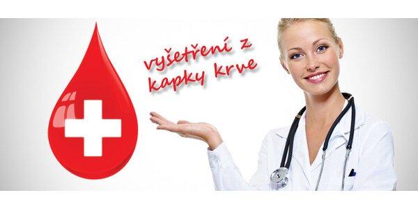 Mikroskopické vyšetření z kapky krve (60-90 mn)