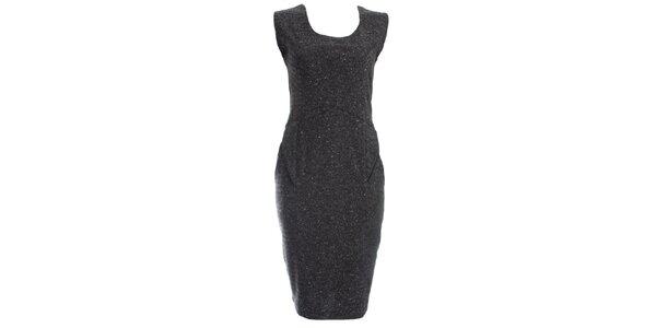 Dámské šedočerné pouzdrové šaty JDC London