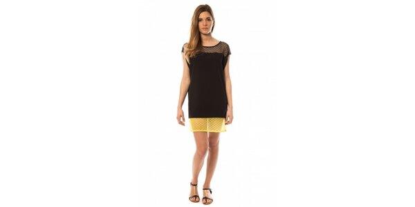Dámské černo-žluté šaty s kanýrky My Little Poesy