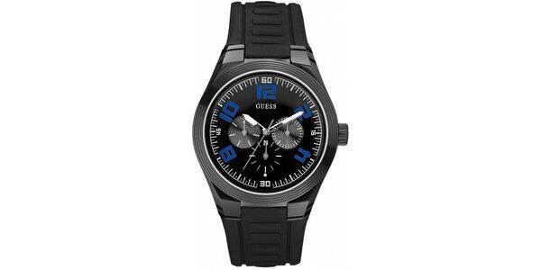 Sportovní černé pánské hodinky Guess