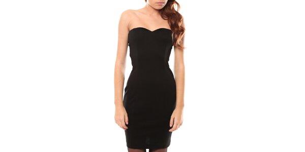 Dámské černé šaty bez ramínek My Little Poesy
