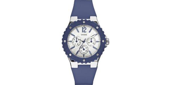 Pánské modré náramkové hodinky Guess