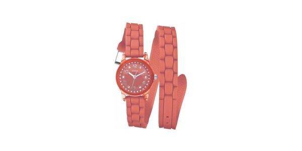 Dámské oranžové náramkové hodinky Guess