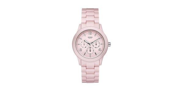 Dámské pastelově růžové hodinky Guess