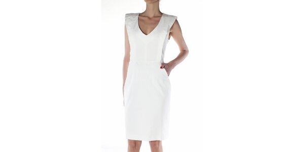 Dámské bílé pouzdrové šaty Gene