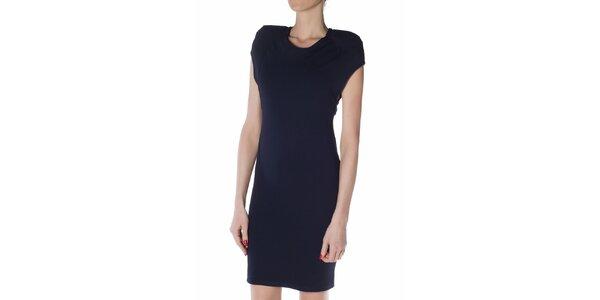 Dámské tmavě modré pouzdrové šaty Gene