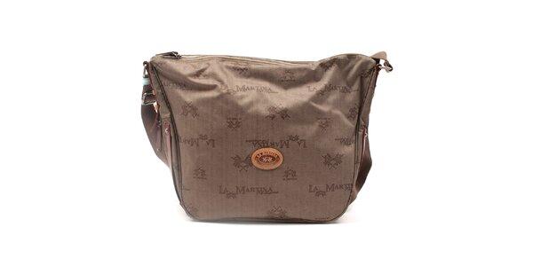 Dámská vzorovaná kabelka s popruhem La Martina
