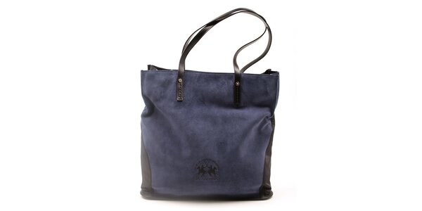 Dámská černo-modrá kabelka La Martina