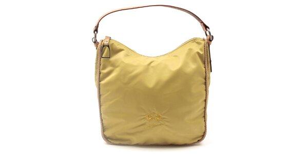 Dámská žlutá kabelka se vzorovanými boky La Martina