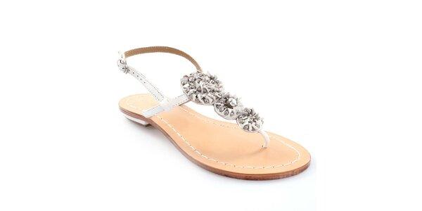 Dámské kožené sandály v bílé barvě Coral Blue