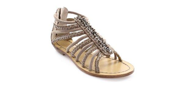 Dámské páskové sandály z kůže Coral Blue