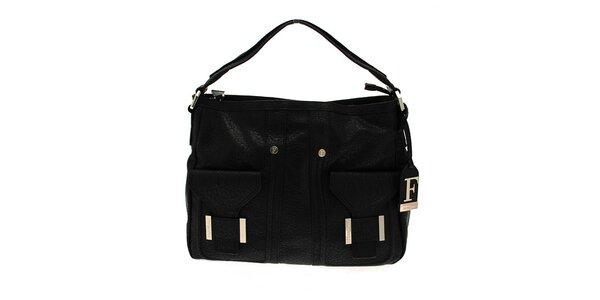 Černá kabelka se dvěma kapsami Ferré