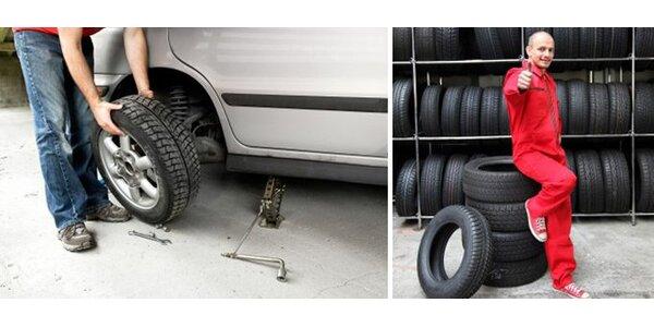 340 Kč za kompletní přezutí vašeho vozidla vč. vyvážení a výměny ventilů.