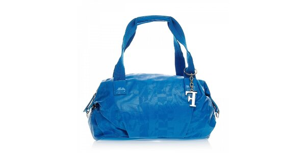 Modrá kabelka s přívěskem Ferré