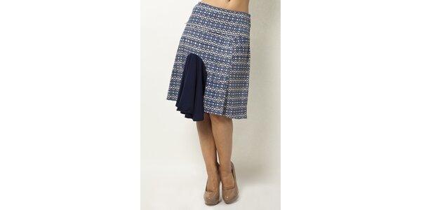 Vzorovaná sukně s volánkem Mahal