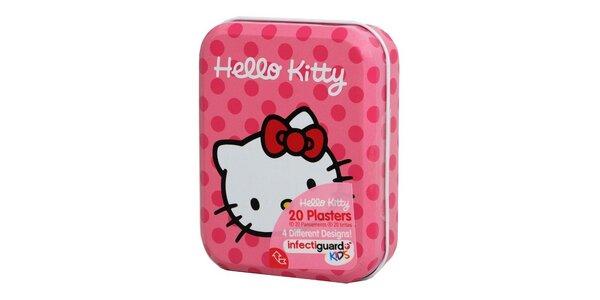 Hello Kitty náplasti 20 ks (4 dizajny) v kovové krabičce