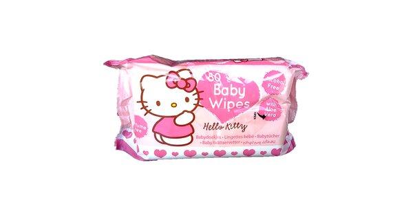 Hello Kitty vlhčené ubrousky 80ks