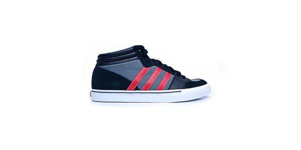 Pánské modro-červené kotníkové tenisky Adidas