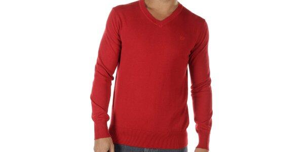 Pánský červený véčkový svetr Bendorff