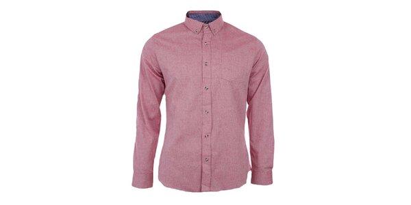Pánská tmavě růžová košile Big Star