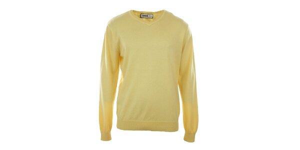 Pánský žlutý véčkový svetr Big Star