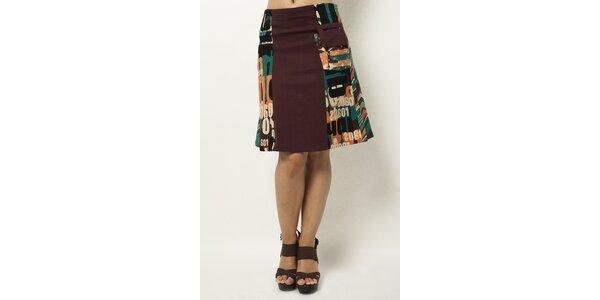 Barevná sukně ke kolenům Mahal