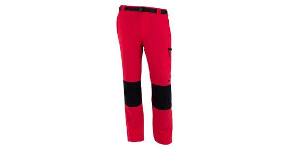 Pánské červeno-černé vodoodpudivé kalhoty Goritz