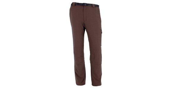 Pánské hnědé vodoodpudivé kalhoty Goritz