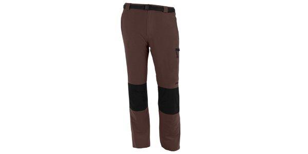 Pánské hnědo-šedé vodoodpudivé kalhoty Goritz