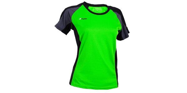 Dámské zelené tričko s šedo-černými prvky Goritz