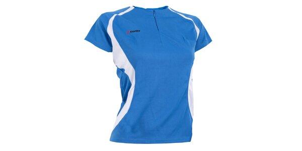 Dámské modro-bílé funkční tričko Goritz