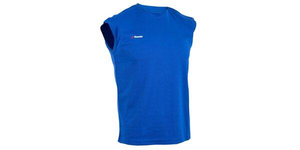 Pánské modré technické tričko bez rukávů Goritz