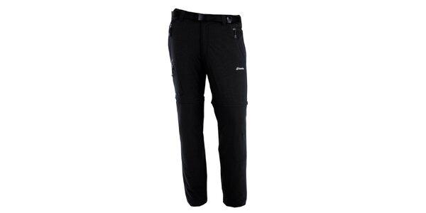 Pánské černé kalhoty s odnímatelnými nohavicemi Goritz
